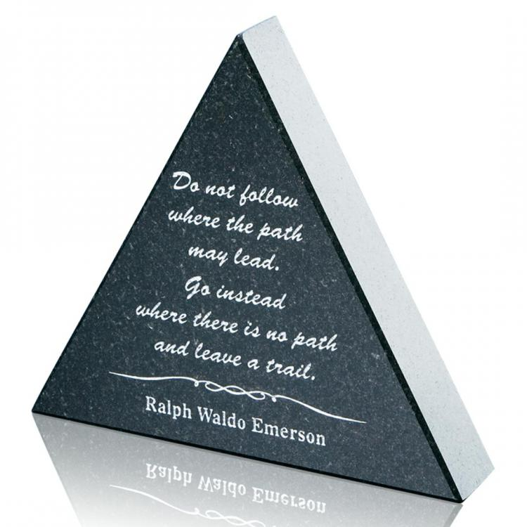 Granite Paperweight - Triangle