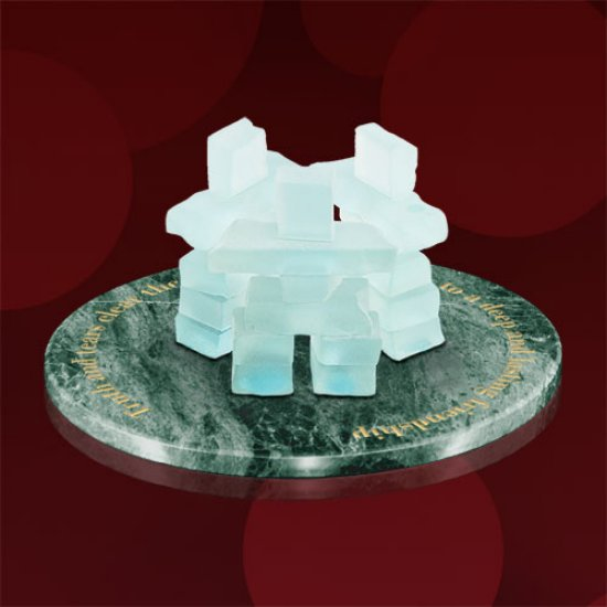 Friendship Ring - Marble with 3 Inukshuks