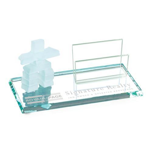 Inukshuk Cardholder - Jade Standard Edge