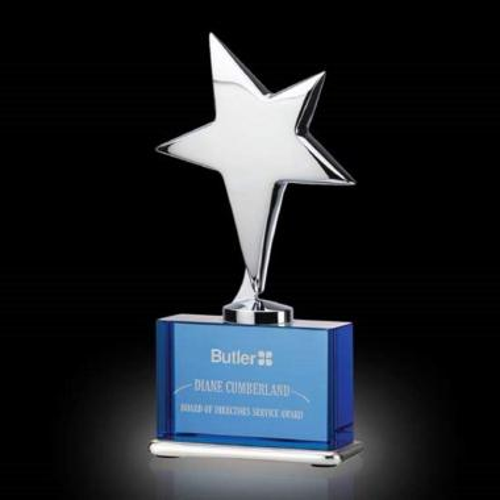 Rhapsody Star Award - Blue/Chrome