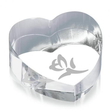 Heart Paperweight - Optical