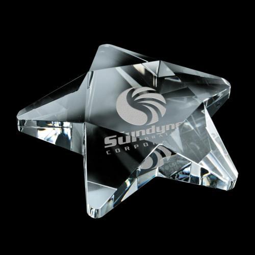 Pentagon Paperweight - Optical
