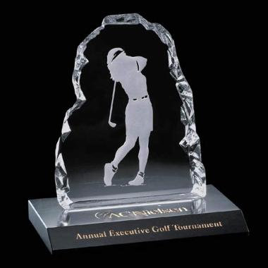 Golfer Iceberg Award on Marble -Female