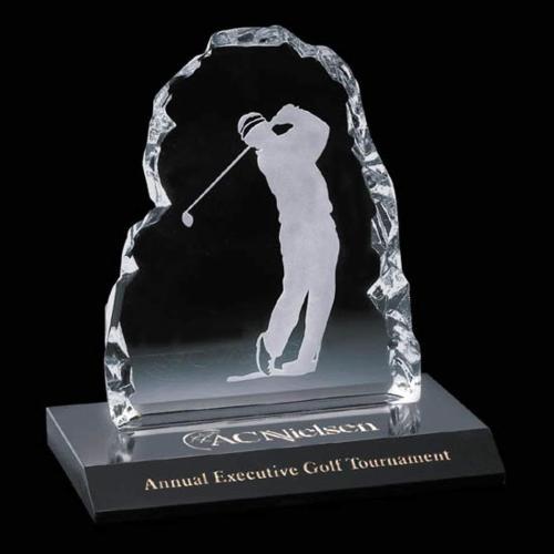 Golfer Iceberg Award on Marble -Male