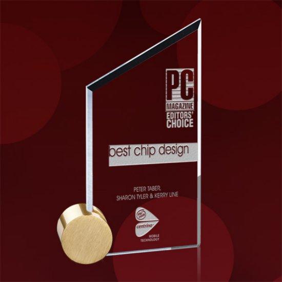 Cooper Award - Jade/Gold Circle