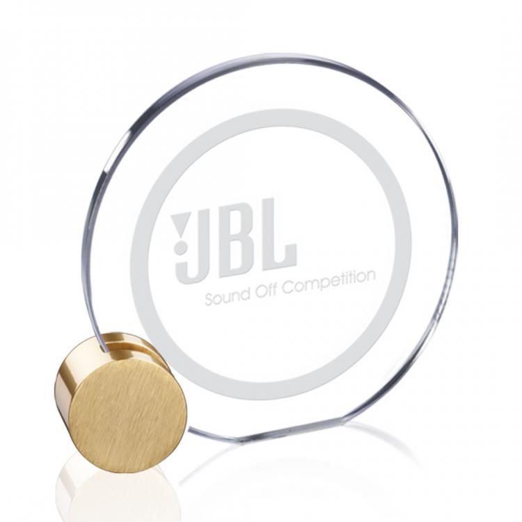 Verdunn Award - Starfire/Gold Circle Diam