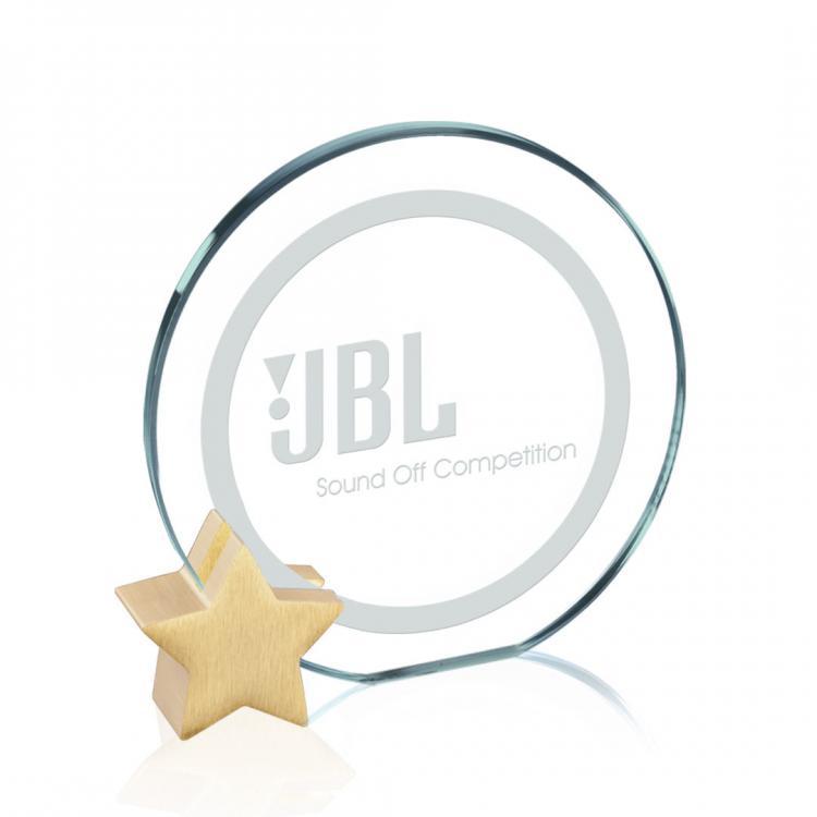 Verdunn Award - Jade/Gold Star Diam
