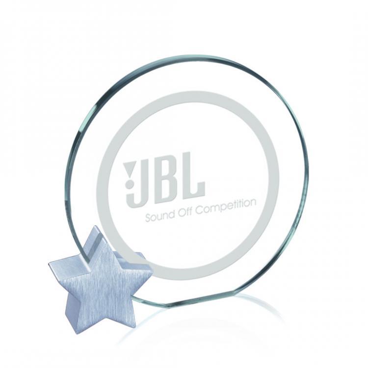 Verdunn Award - Jade/Chrome Star Diam