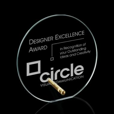 Windsor Circle Award - Starfire/Gold Diam