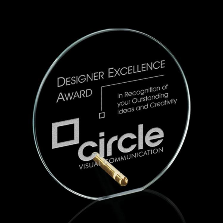 Windsor Circle Award - Starfire/Gold Diam
