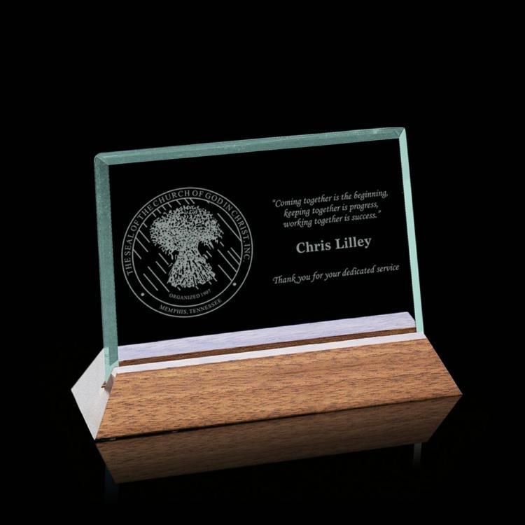 Esten Award - Jade/Walnut