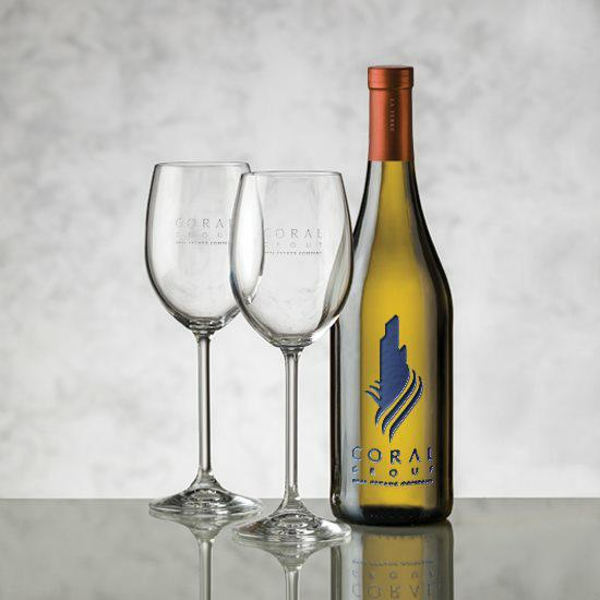 Chardonnay - Deep Etch & Woodbridge Wine Set