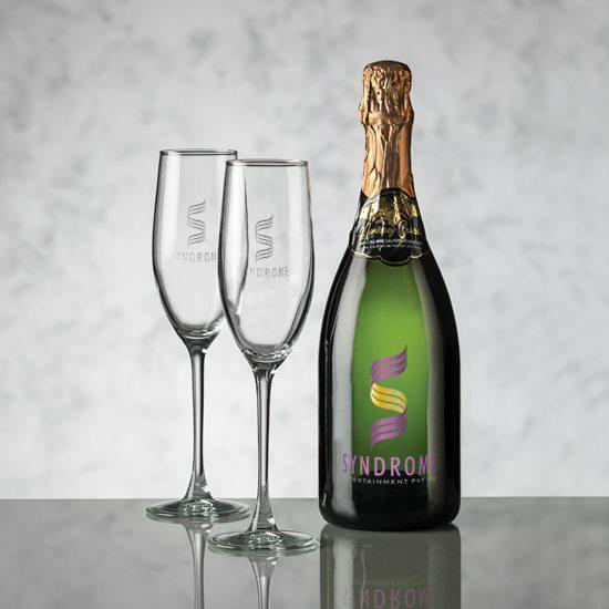 Champagne - VividPrint™ & Connoisseur Flute Set