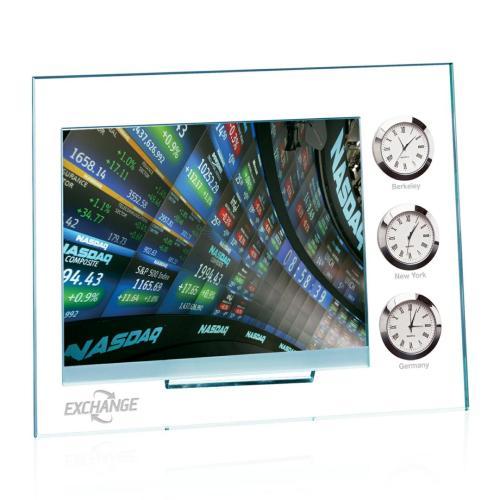 Dateline Clock/Frame - Jade/Chrome