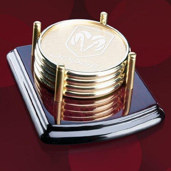 Bernwood Coasters - Set of 4 -Gold