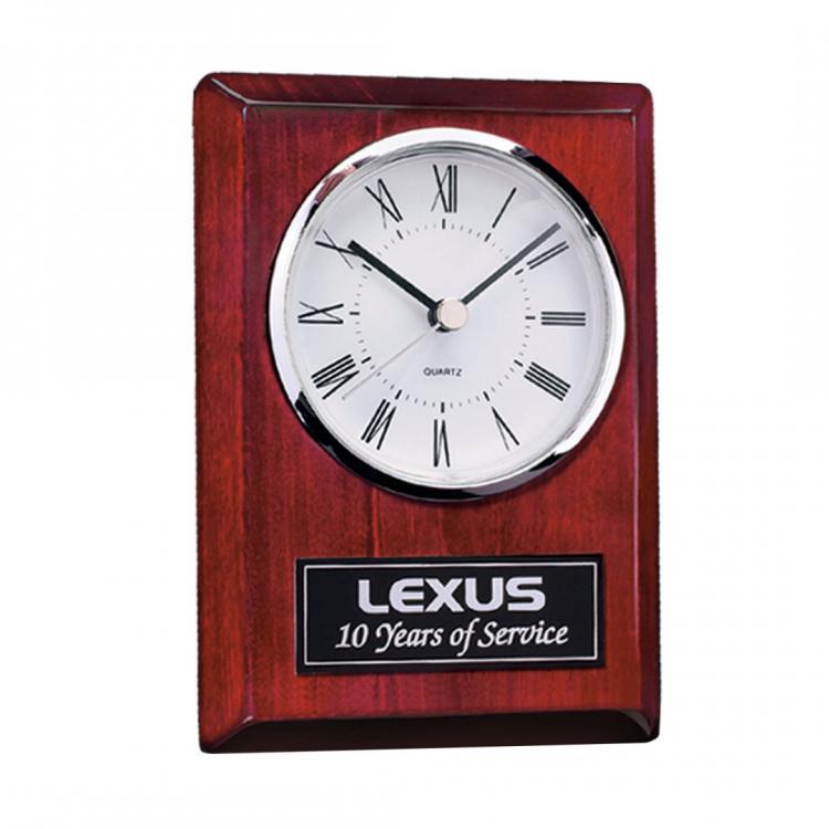Alexis Clock -Chrome