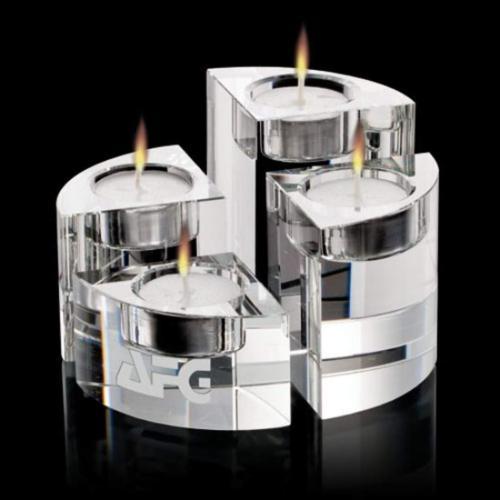 Saks Candleholders - Optical Set of 4