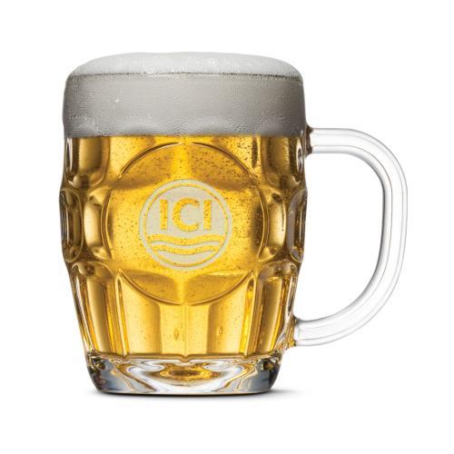 Britannia Beer Stein - Deep Etch 20oz