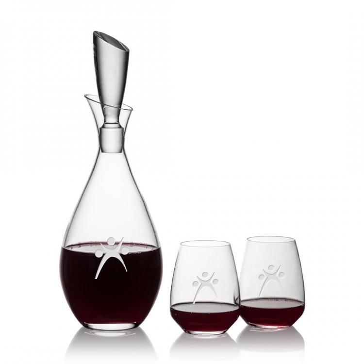 Juliette Decanter & Stemless Wine