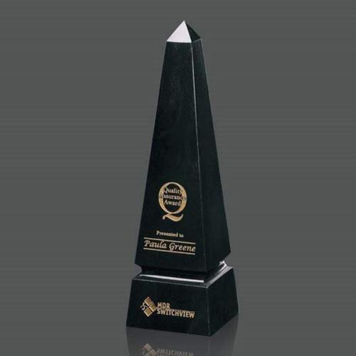 Marble Grooved Obelisk Award