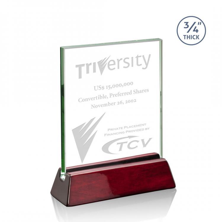 Walkerton Award - Jade/Rosewood (Vertical)