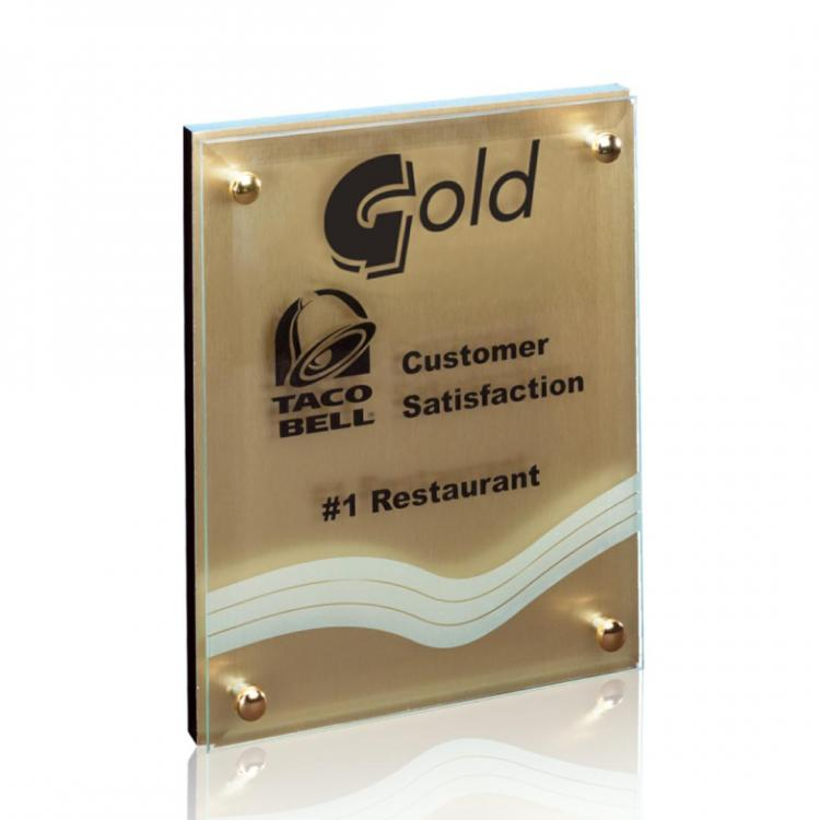 Kingston Plaque- Metallic Gold