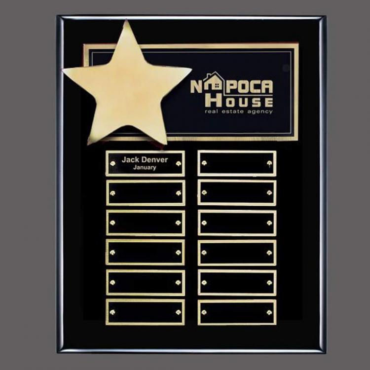 Hollister (Vert) P/Plaque - Black/Gold