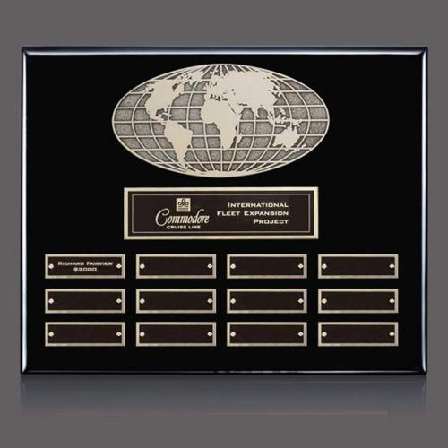World Perpetual Plaque - Ebony