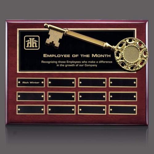 Key Perpetual Plaque - Rosewood