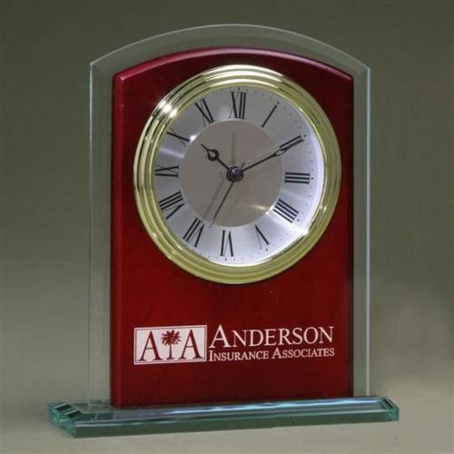 Glass Arch Clock