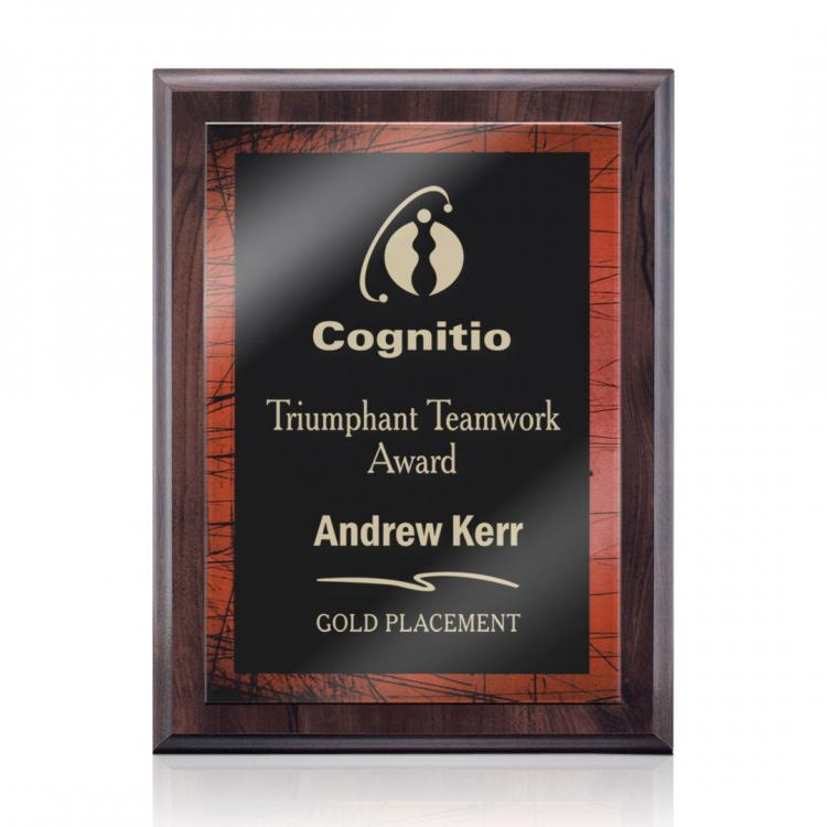 Farnsworth/Caprice Plaque - Cherry/Red