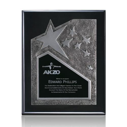 Braxton Plaque - Black/Silver