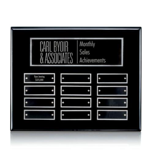 Oakleigh Horiz Pert/Plaque - Black/Silver