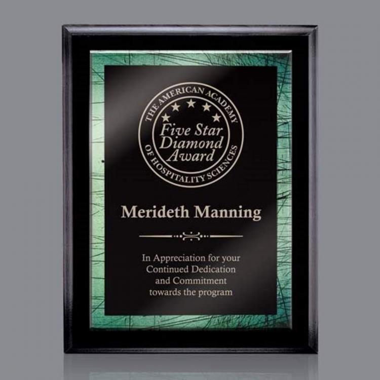 Farnsworth/Caprice Plaque - Black/Green