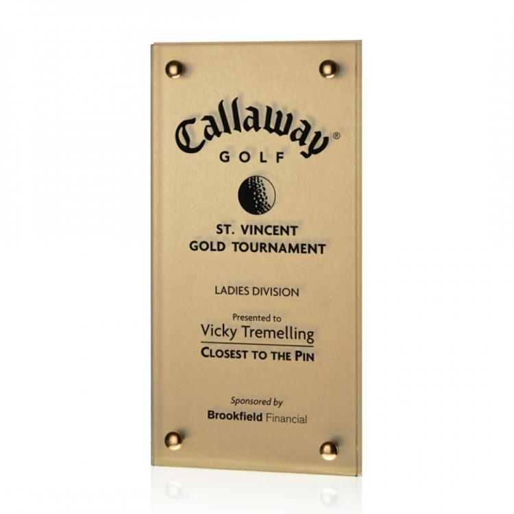 Kingston Plaque -  Metallic Gold