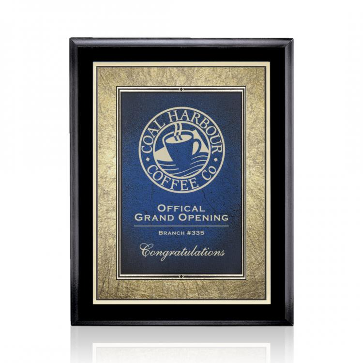 Farnsworth/Tamara Plaque - Black/Blue