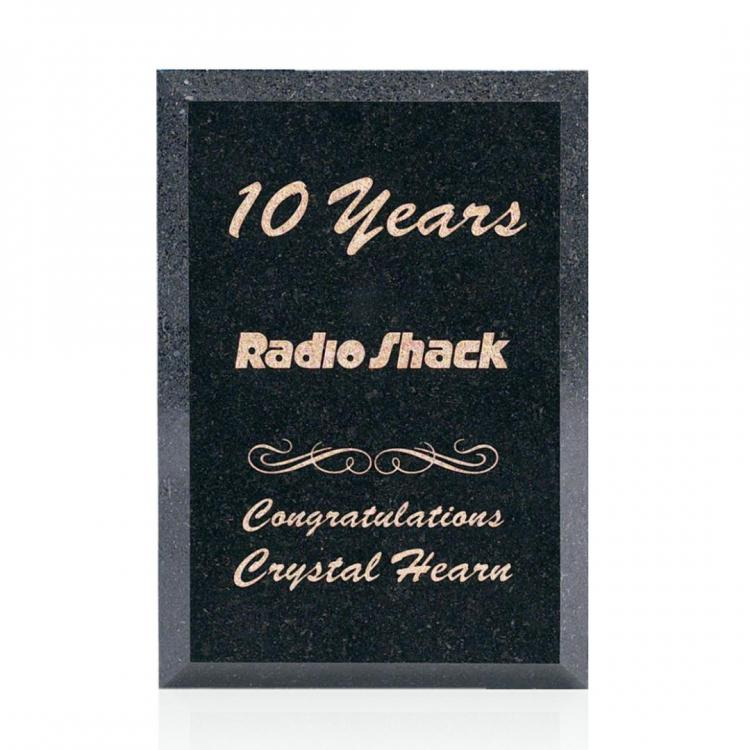 Granite Plaque - Black