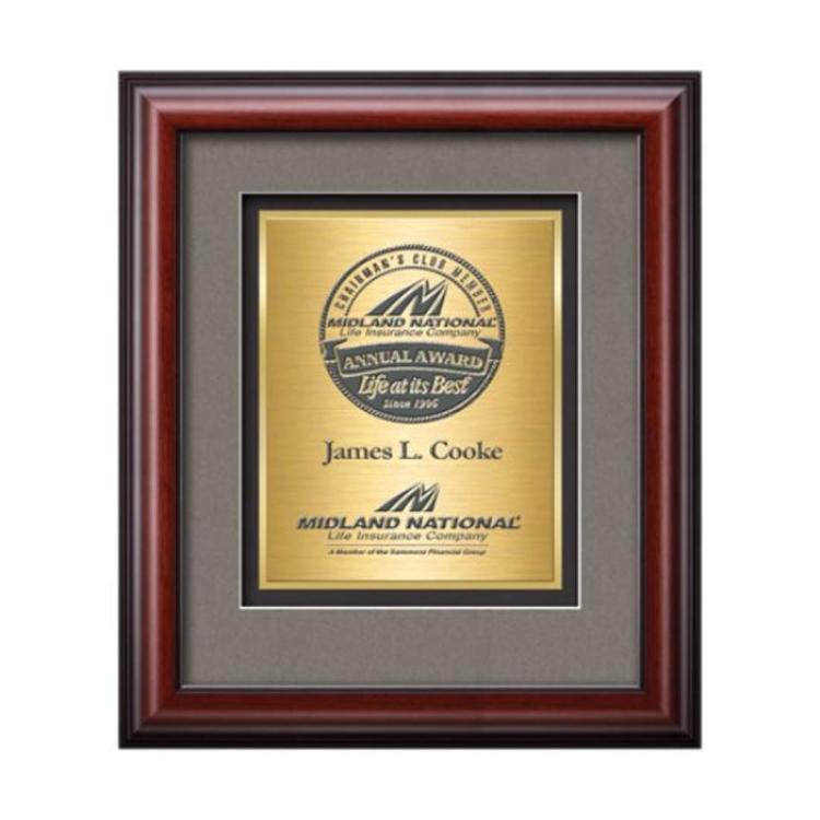Cornaro Certificate TexEtch Vert - Mahogany