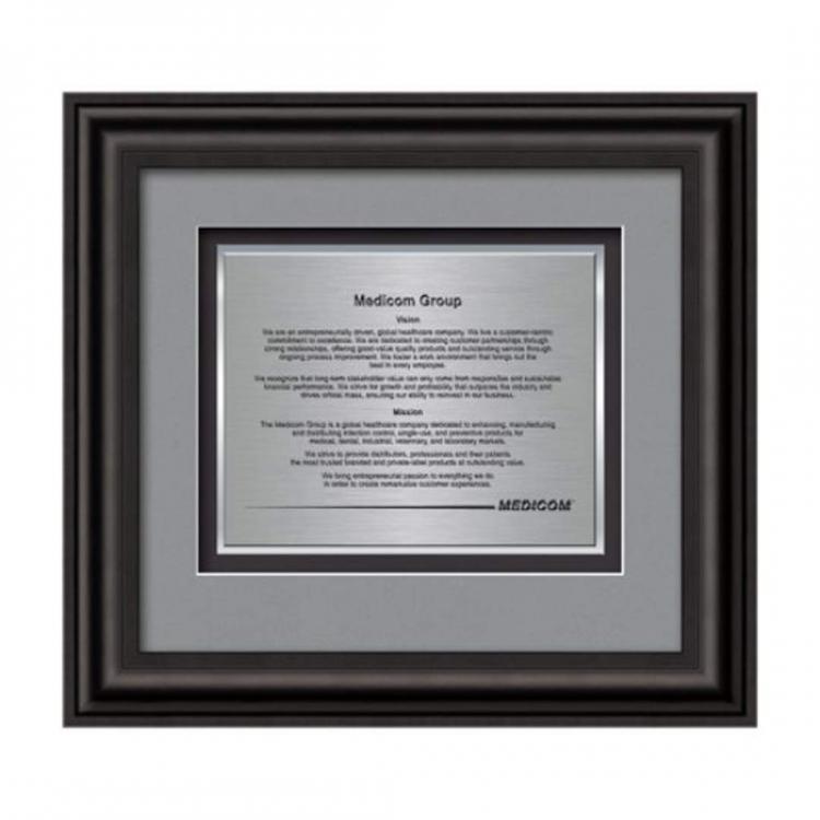 Cardoba Certificate TexEtch Horiz - Black