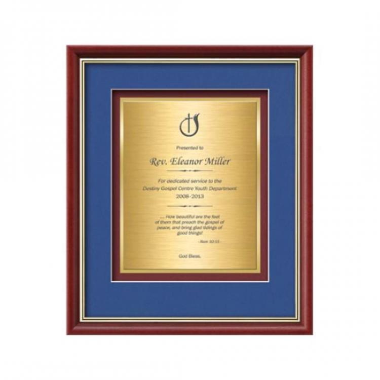 Baron Certificate TexEtch Vert - Mahogany/Gold