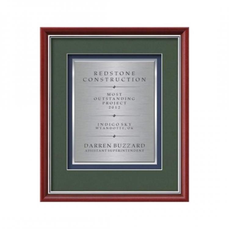 Baron Certificate TexEtch Vert - Mahogany/Silver