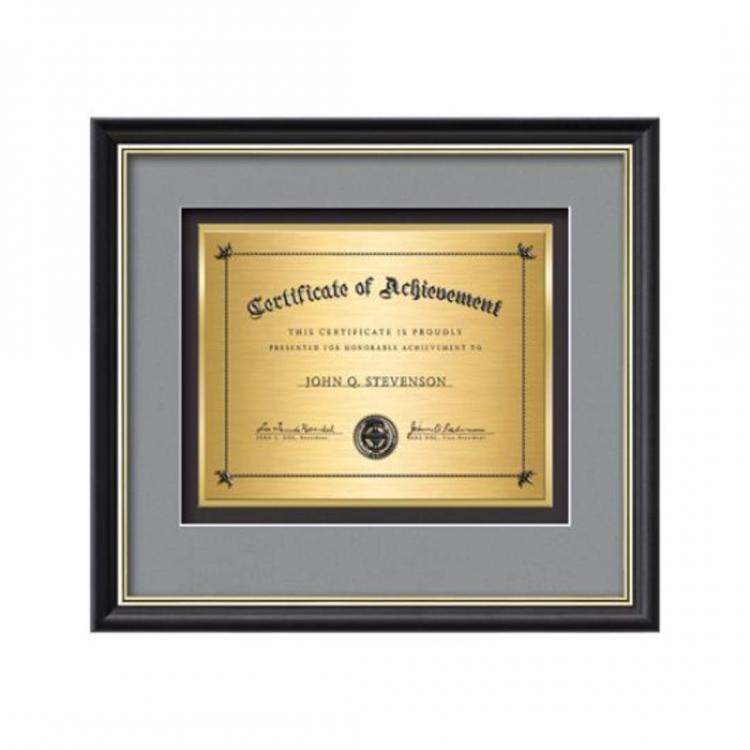 Baron Certificate TexEtch Horiz - Black/Gold