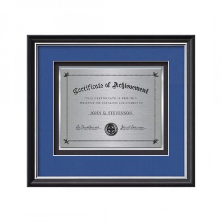 Baron Certificate TexEtch Horiz - Black/Silver