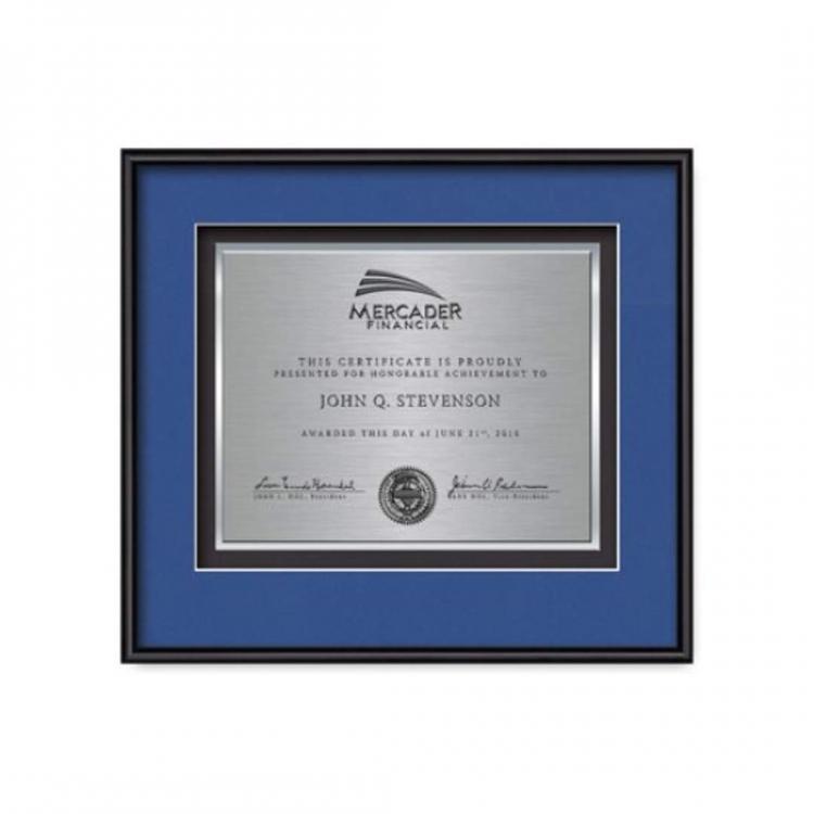 Fenestra Certificate TexEtch Horiz - Black