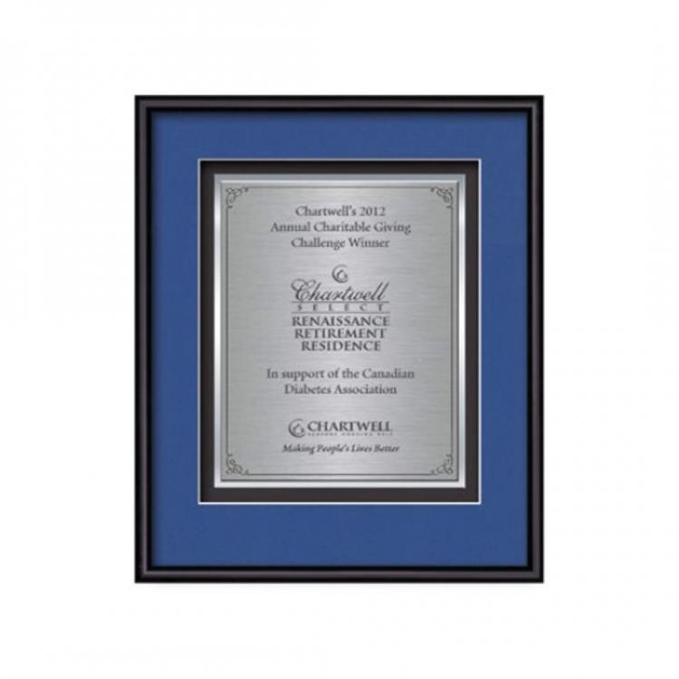 Fenestra Certificate TexEtch Vert - Black