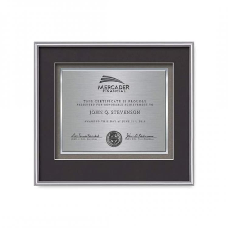 Fenestra Certificate TexEtch Horiz - Silver