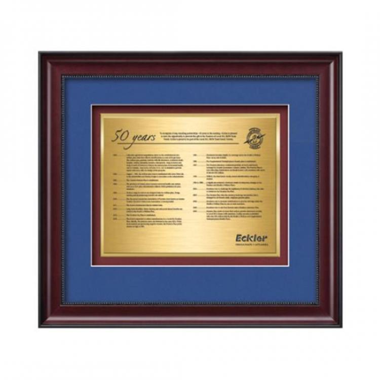 Caprera Certificate TexEtch Horiz - Mahogany