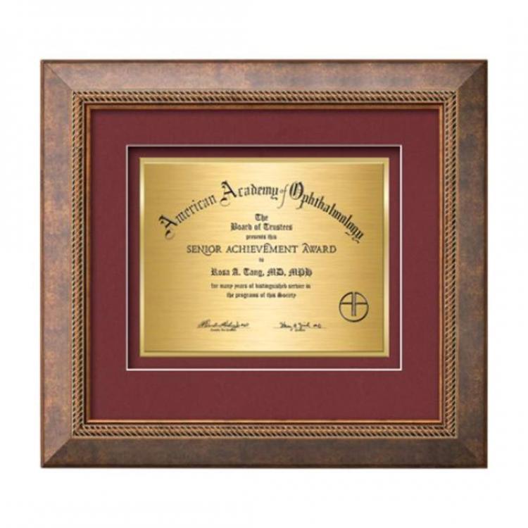 Lazio Certificate TexEtch Horiz - Bronze/Copper