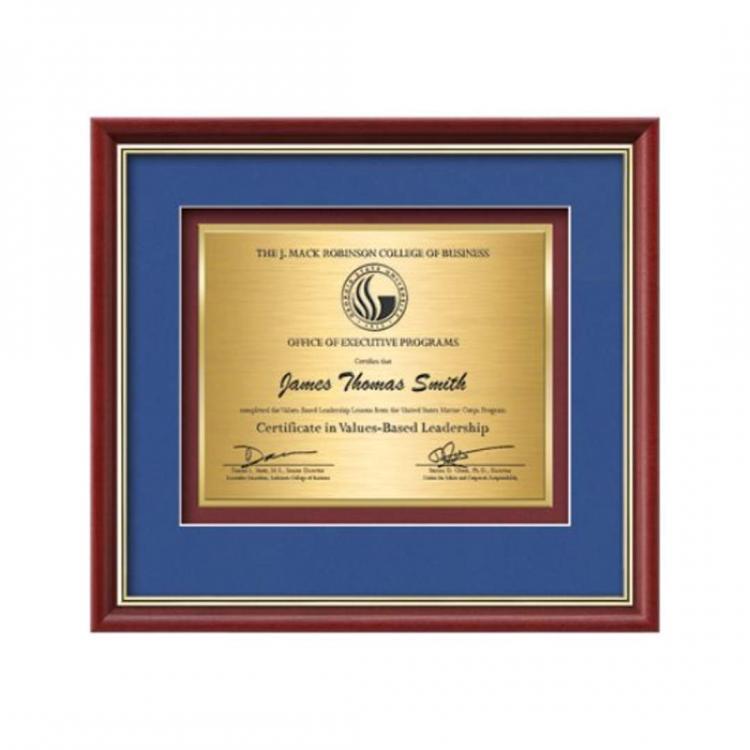 Baron Certificate TexEtch Horiz - Mahogany/Gold