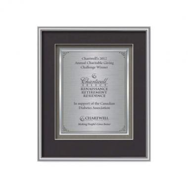 Fenestra Certificate TexEtch Vert - Silver